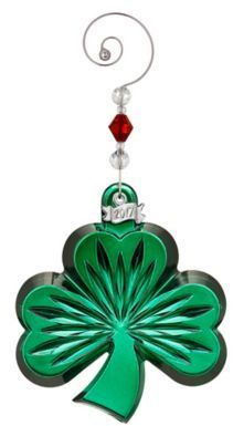 Waterford  Annual Shamrock Christmas Ornament Celebrate Your Irish Heritage This Holiday Season With