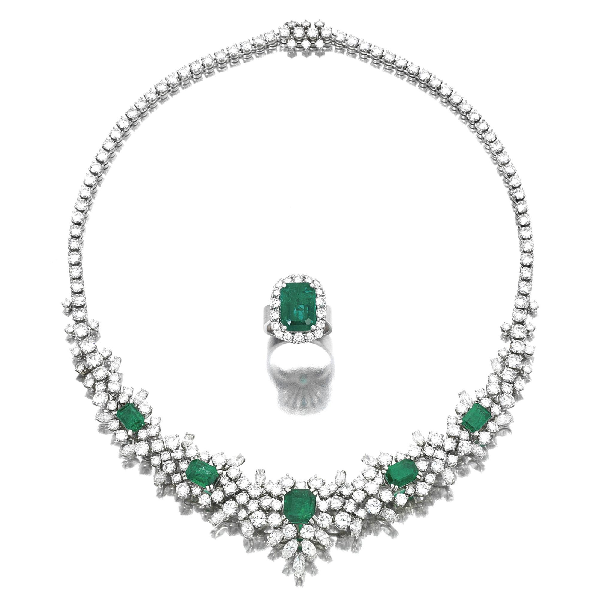 http://rubies.work/0257-ruby-rings/ Emerald and diamond necklace and a ring   lot   Sotheby's