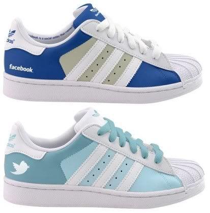 Facebook Adidas Superstar and Twitter Adidas Superstar Shoes