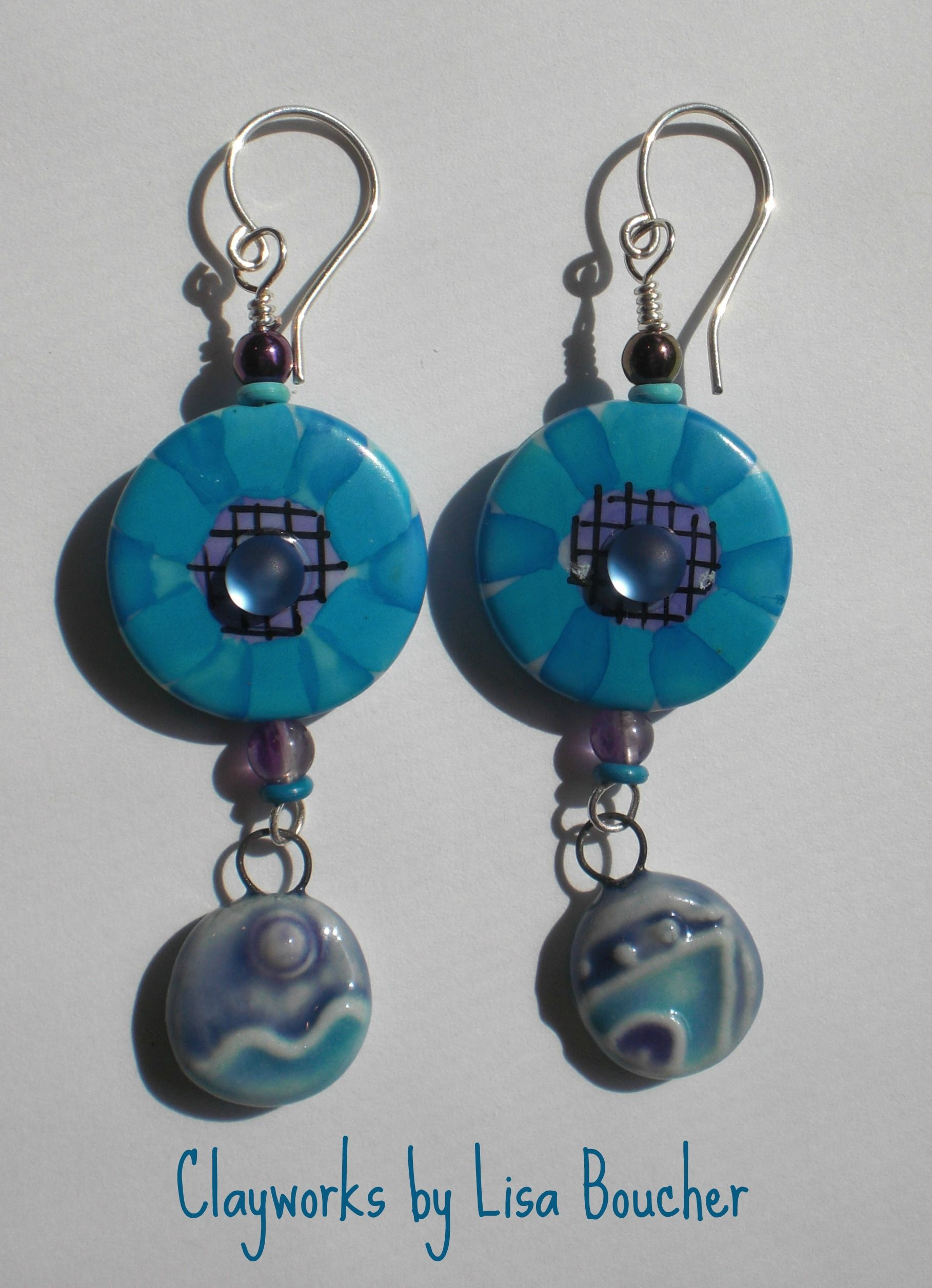 Handcrafted dangles featuring handpainted acrylic focals by Yvonne ...