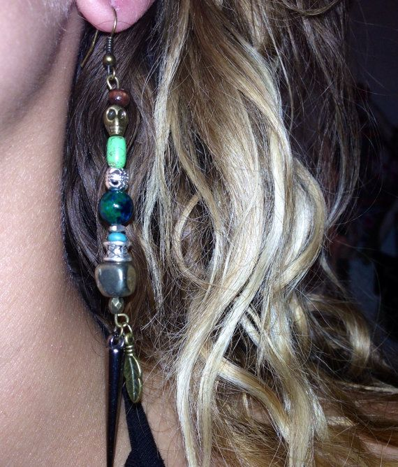 One of a kind asymmetrical funky boho beaded by BohemeLife on Etsy