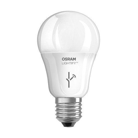 Ampoule Connectee Standard Led 9 5w 810lm Equiv 60w E27 2700k Lightify Osram Led Ampoule Philips Hue