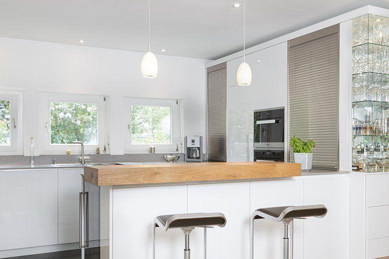 MTB-Küche in hochglanz weiss | Penthouse | Pinterest | Hochglanz ...