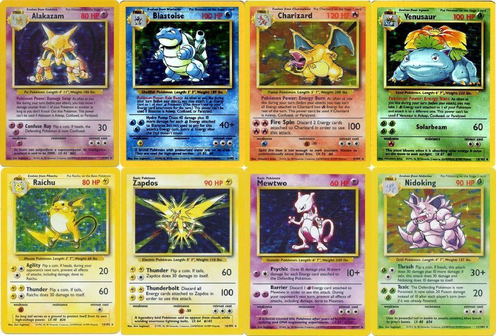 Blastoise Charizard Venusaur Pokémon Card Lot Base Set Rare Holos