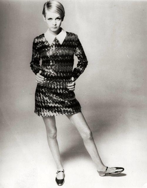 Twiggy 1960s Mod Vintage Fashion Swinging Sixties 1960s