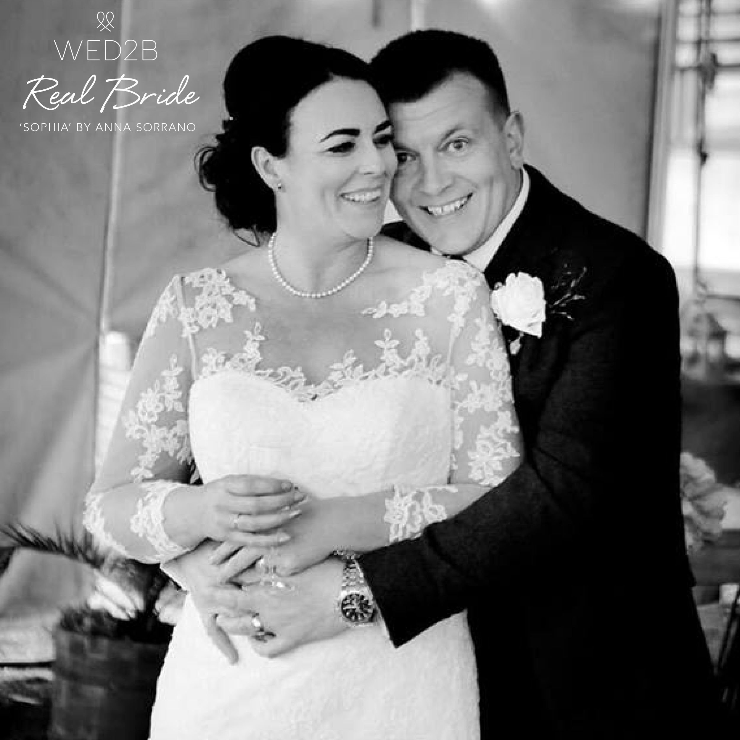 Real Brides Wed2b: A Beautiful Photo Of Real Bride Emma In 'Sophia' By Anna
