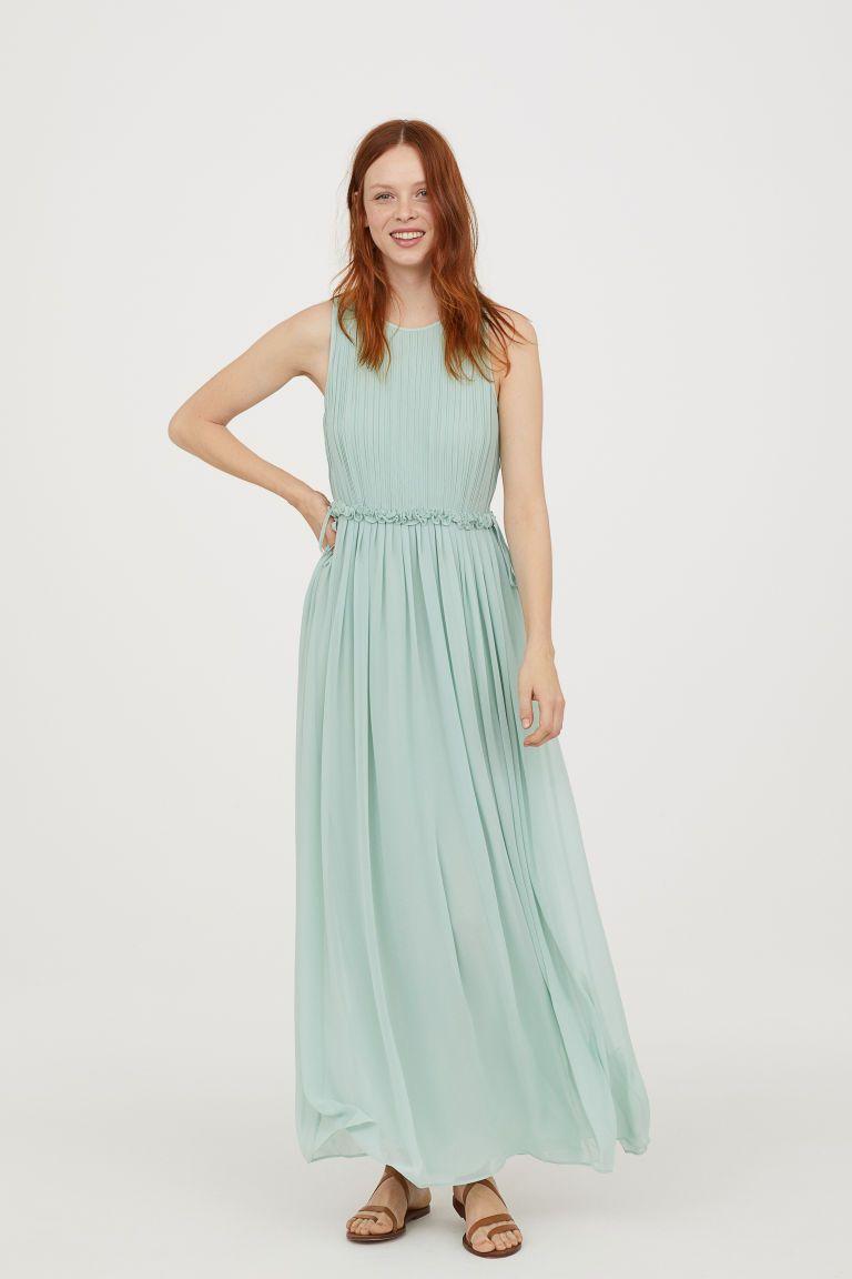 Dlouhé šifonové šaty - Peprmintová - ŽENY  8b2f25fc520