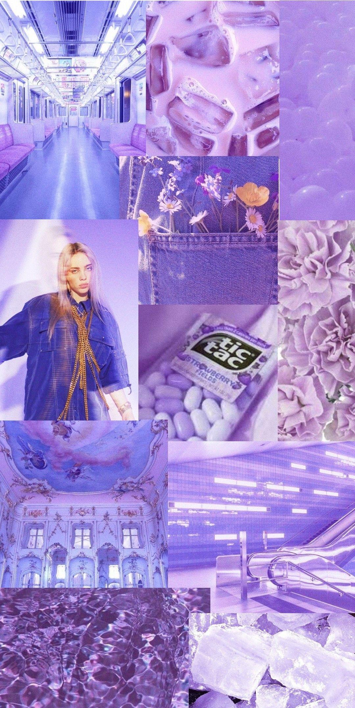 Pastel/light purple aesthetic billie eilish wallpaper 1