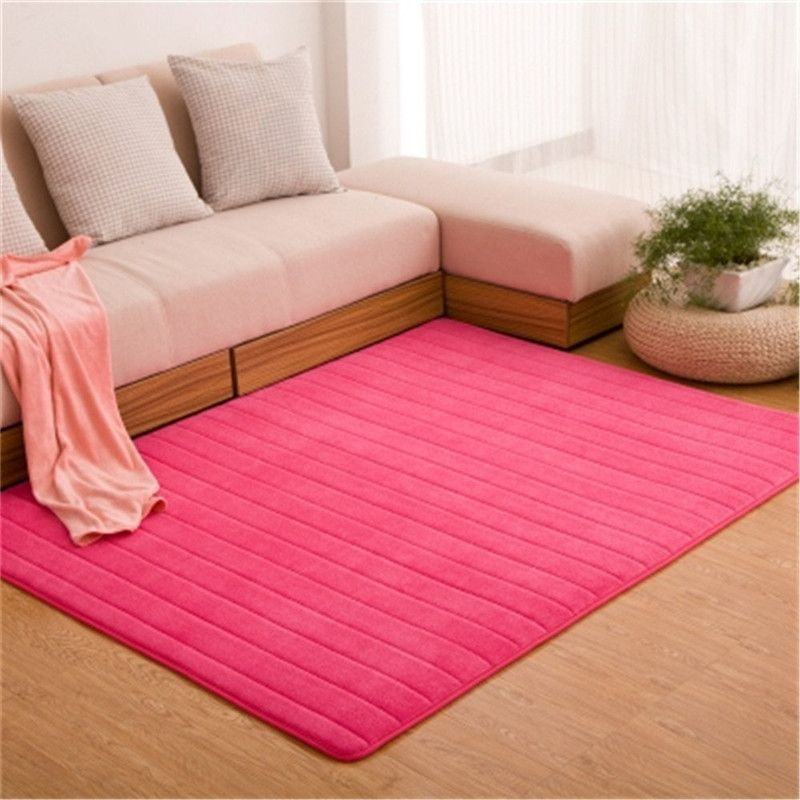 Ultra Soft Thick Memory Foam Absorbent Coral Fleece Fabric Area Rugs