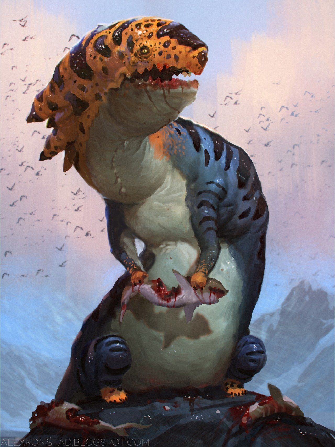 ArtStation - The Hungry Dragon, Alex Konstad