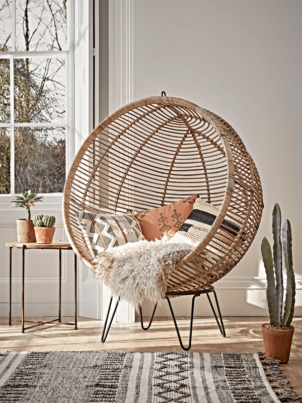 Round Rattan Cocoon Chair Occasional Chairs Luxury Seating Luxury Home Furniture Luxuryh Pallet Furniture Living Room Dream Living Rooms Cute Room Decor