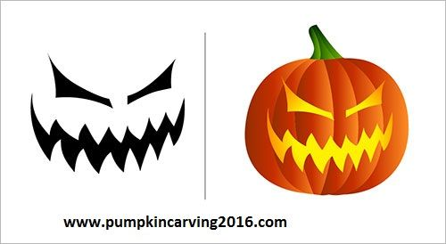 free halloween scary pumpkin carving stencils (1) Halloween - patterns for halloween decorations