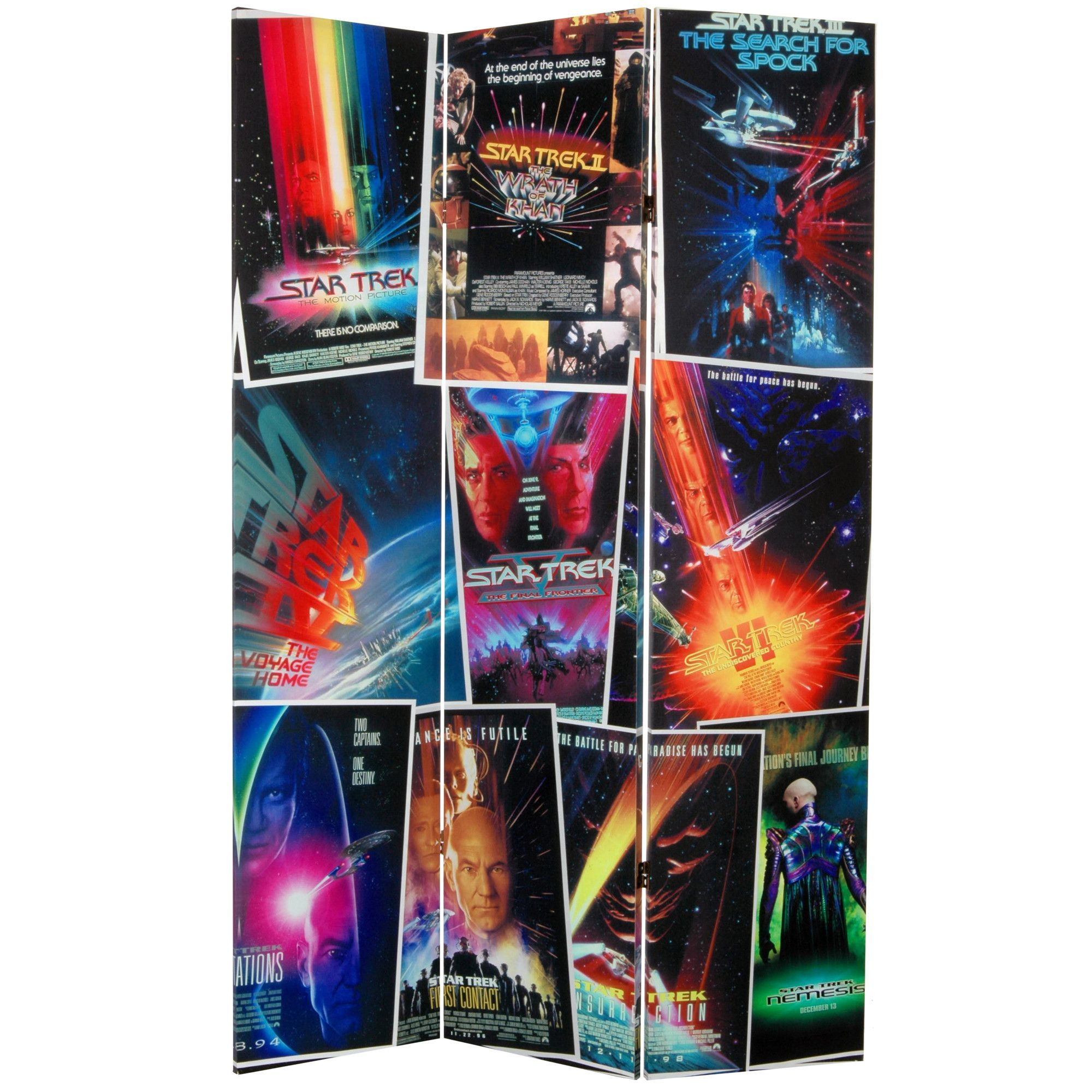 3 panel poster board designs - 71 X 47 25 Star Trek Tall Double Sided Movie Posters 3 Panel Room Divider
