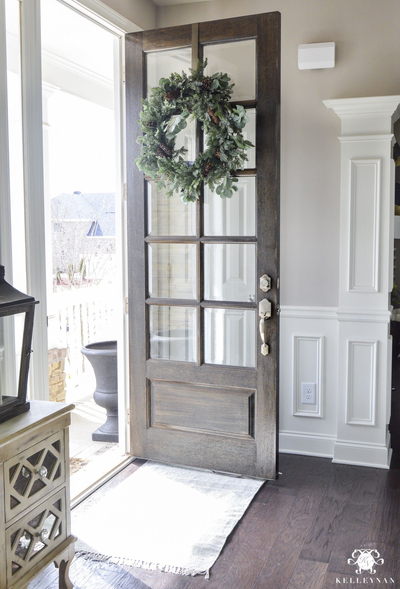 Foyer Screen Ideas : Organized foyer coat closet before and after makeover