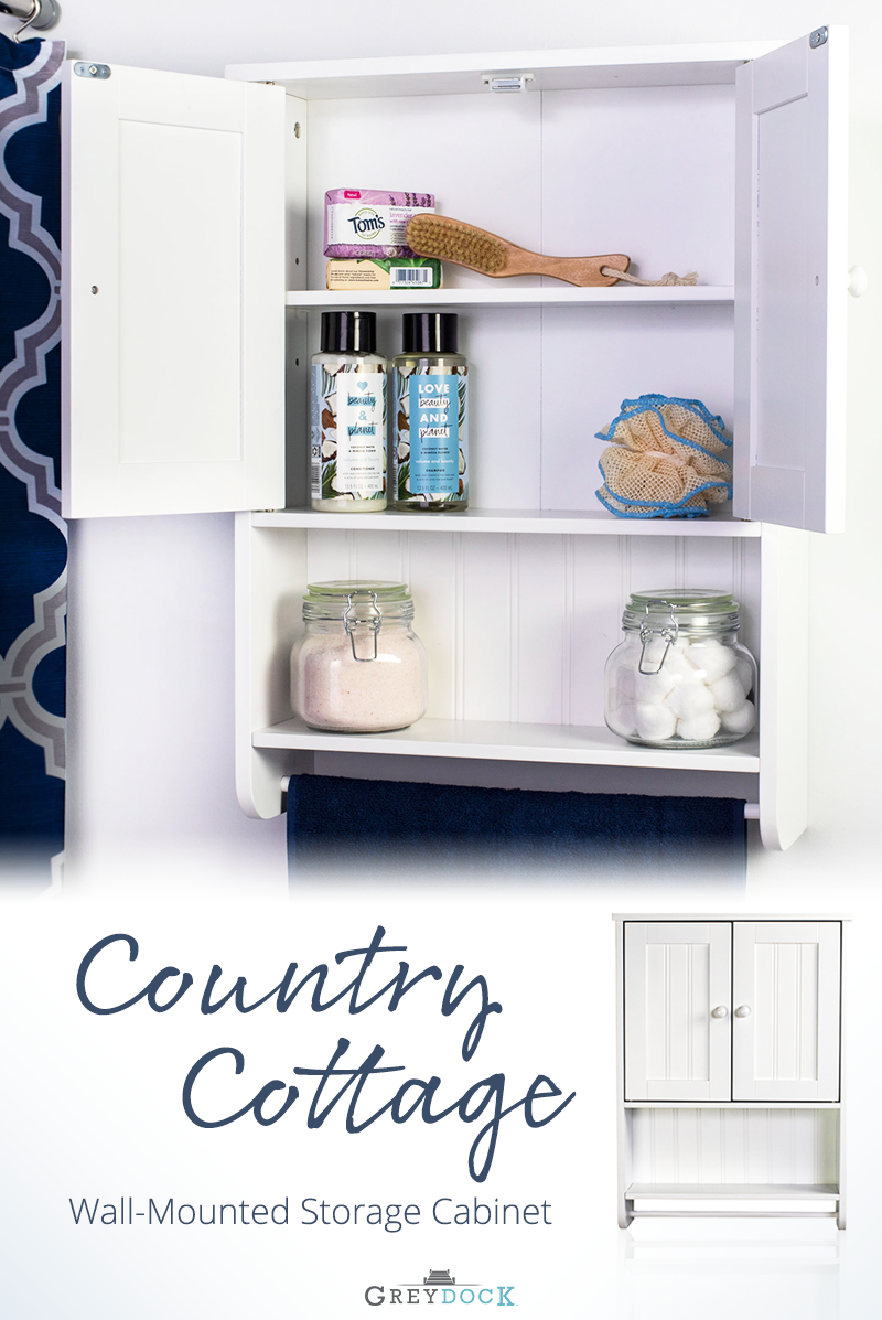 Bennington Country Cottage White Wall Mount Bathroom Medicine Cabinet Storage Towel B Wall Mounted Bathroom Storage Diy Bathroom Storage Bathroom Wall Cabinets