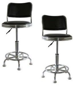 Comfort Back Adjule Bar Stools Contemporary And Counter Home Depot
