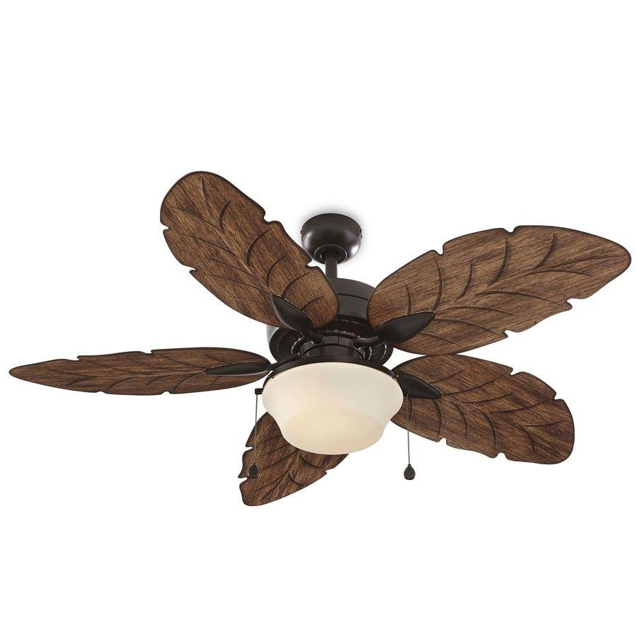 Harbor Breeze Waveport 52 In Bronze Indoor Outdoor Ceiling Fan With Light Kit 5 Blade In 2020 Ceiling Fan With Light Outdoor Ceiling Fans Fan Light
