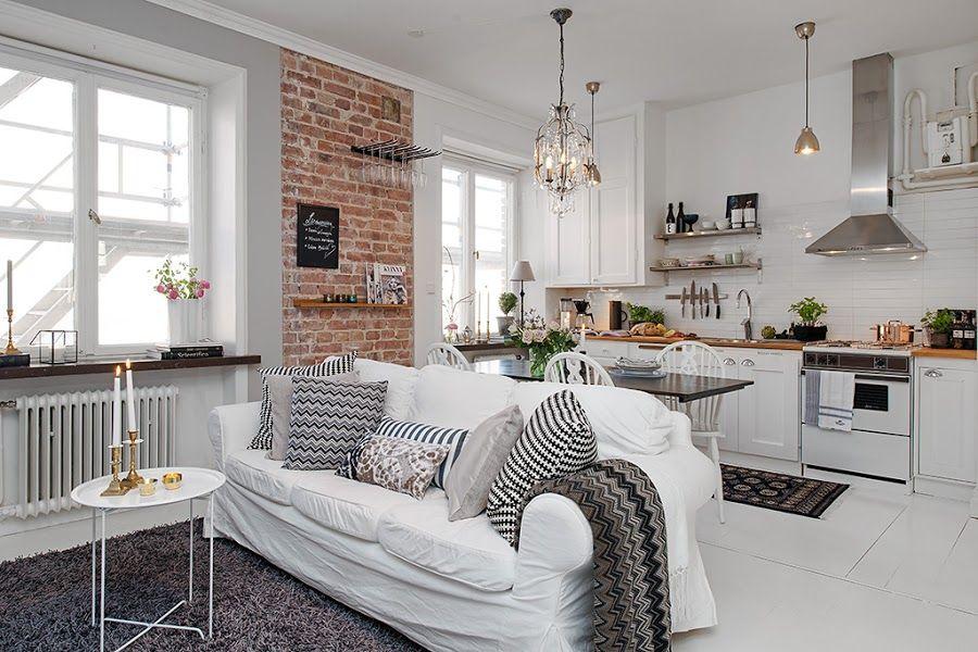 Un Mini Apartamento De 35 M2 Con Todo Lo Necesario Para Vivir Decoracion De Casas Pequenas Decorar Casas Pequenas Decoraciones De Casa