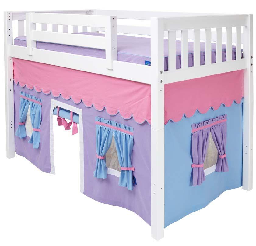 Maxtrix Purple Light Blue Curtain For Mid Height Loft Bed