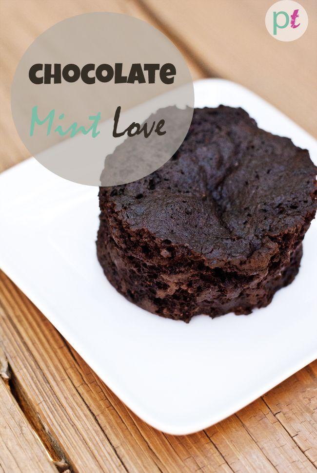 Single Serving Baked Thin Mint Cake Gluten Free Vegan