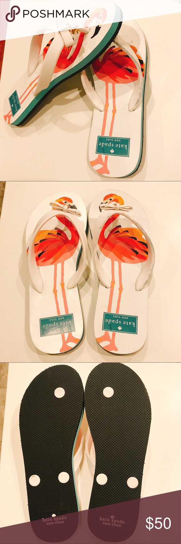 f336c2f449d6 NWOT Kate Spade Flamingo Flip Flops NWOT! Unused and unworn. No original  packaging or tags - as I thought I would keep them. Size 5-6.