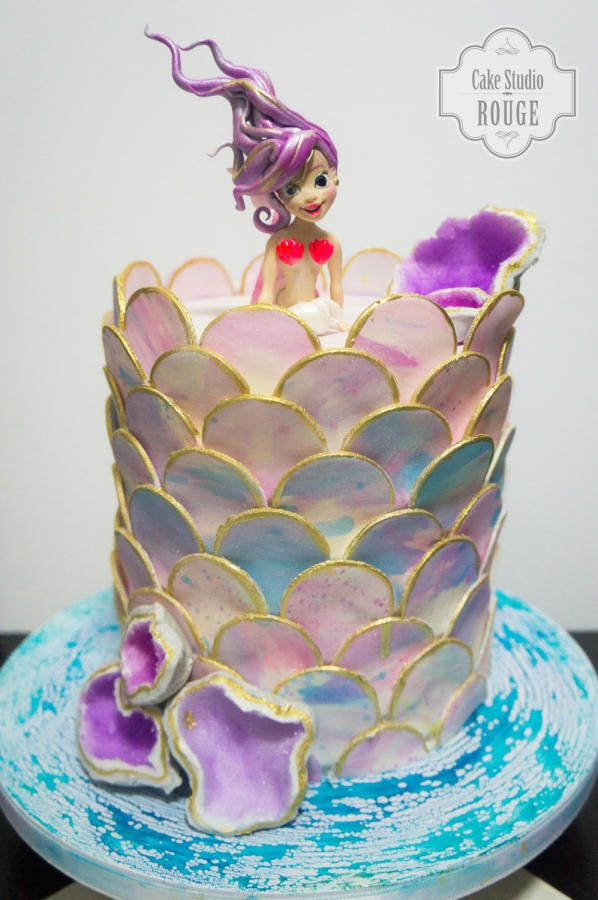 Little mermaid my way by ceca79 cakes cake for Ariel cake decoration