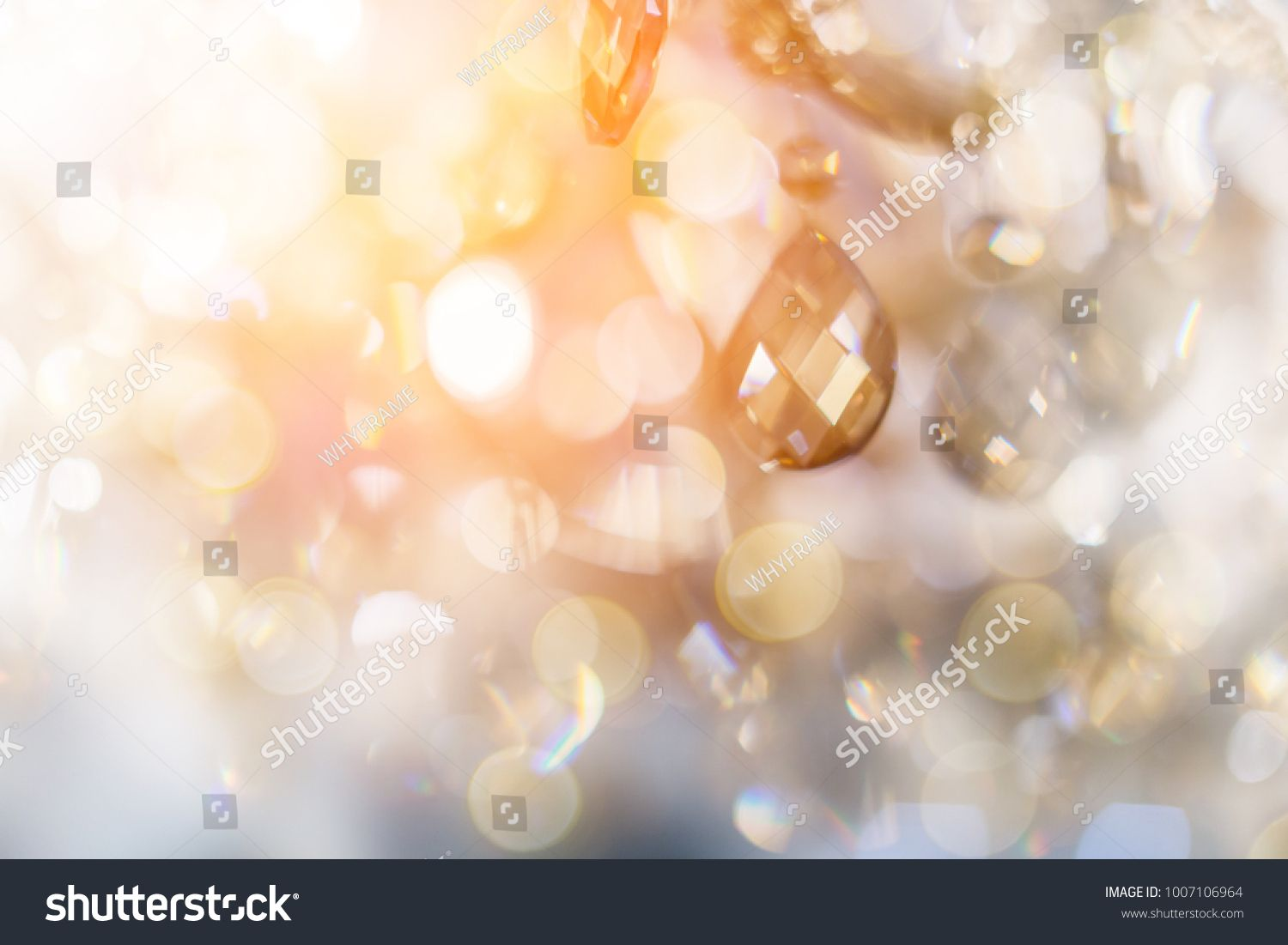 Luxury Crystal Chandelier Close Up Glamour Background With Copy Space Glowing Background Red And Black Background Turquoise Background