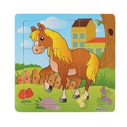Puzzles Toys,Mandy Wooden Horse Jigsaw Toys For Kids Education And Learning