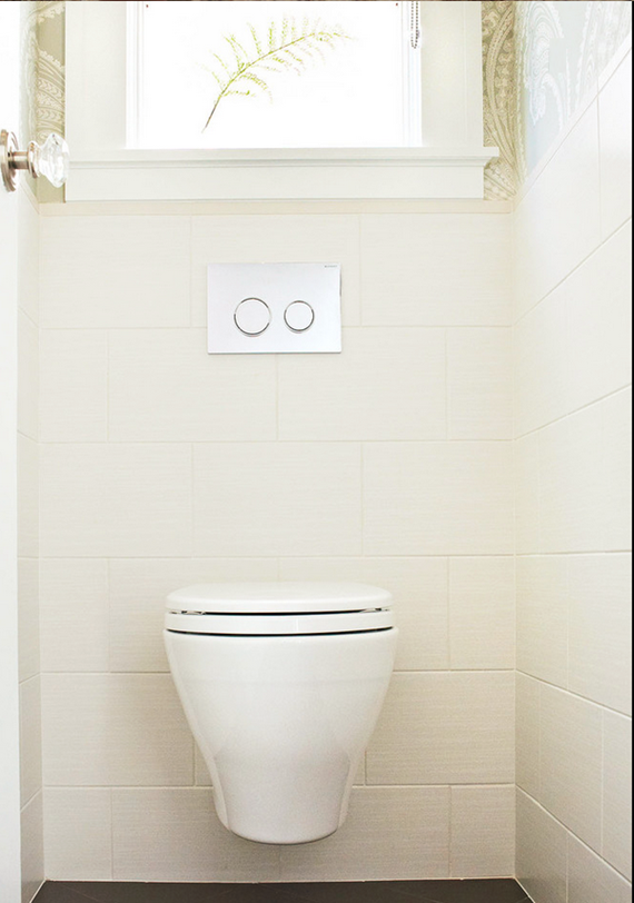 Saving Space And Water Toto S Aquia Wall Hung Toilet Via Houzz Blogtourvegas Wall Hung Toilet Tankless Toilet Toilet Design