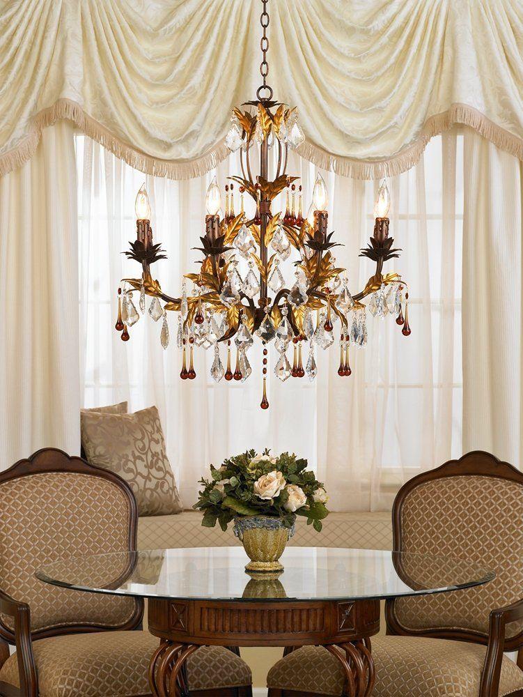 Lamps Plus Gold Chandelier