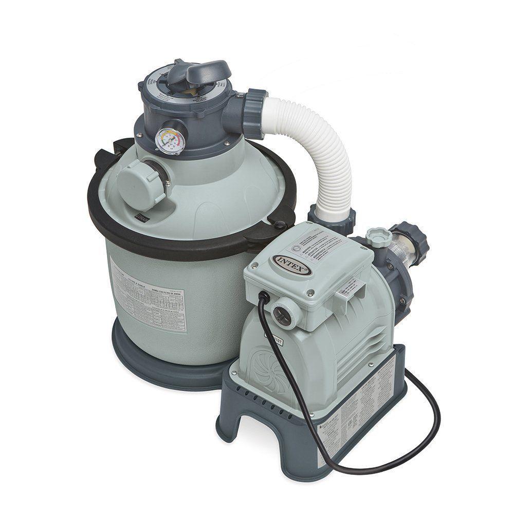 Intex 1200 Gph Krystal Clear Sand Pool Filter Pump Set Sf90110t