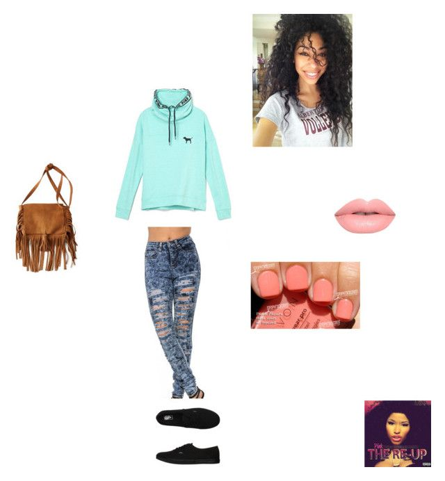 """High school"" by mikyawilkins on Polyvore featuring Victoria's Secret PINK, Vans, American Eagle Outfitters, Lime Crime and Avon"