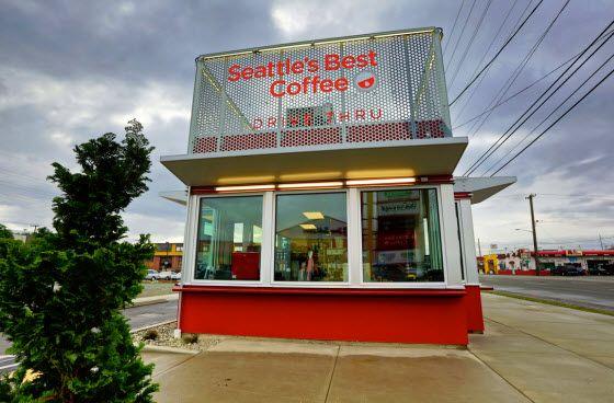 Seattle S Best Coffee Unveils First Drive Thru Only Store Seattle Best Coffee Seattle S Best Coffee Best Coffee