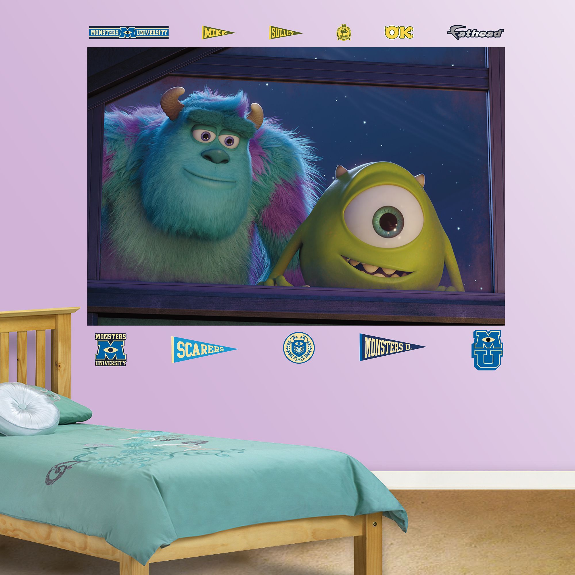 Mike and sulley window mural monsters inc pinterest disney disney pixar monsters university wall decals by fathead multicolor amipublicfo Choice Image