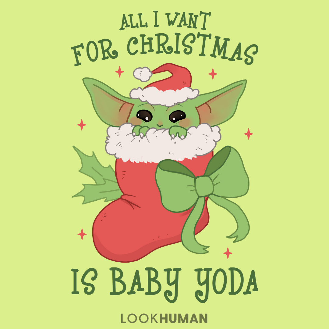 All I Want For Christmas Is Baby Yoda Yoda Wallpaper Holiday Baby Pictures Star Wars Christmas