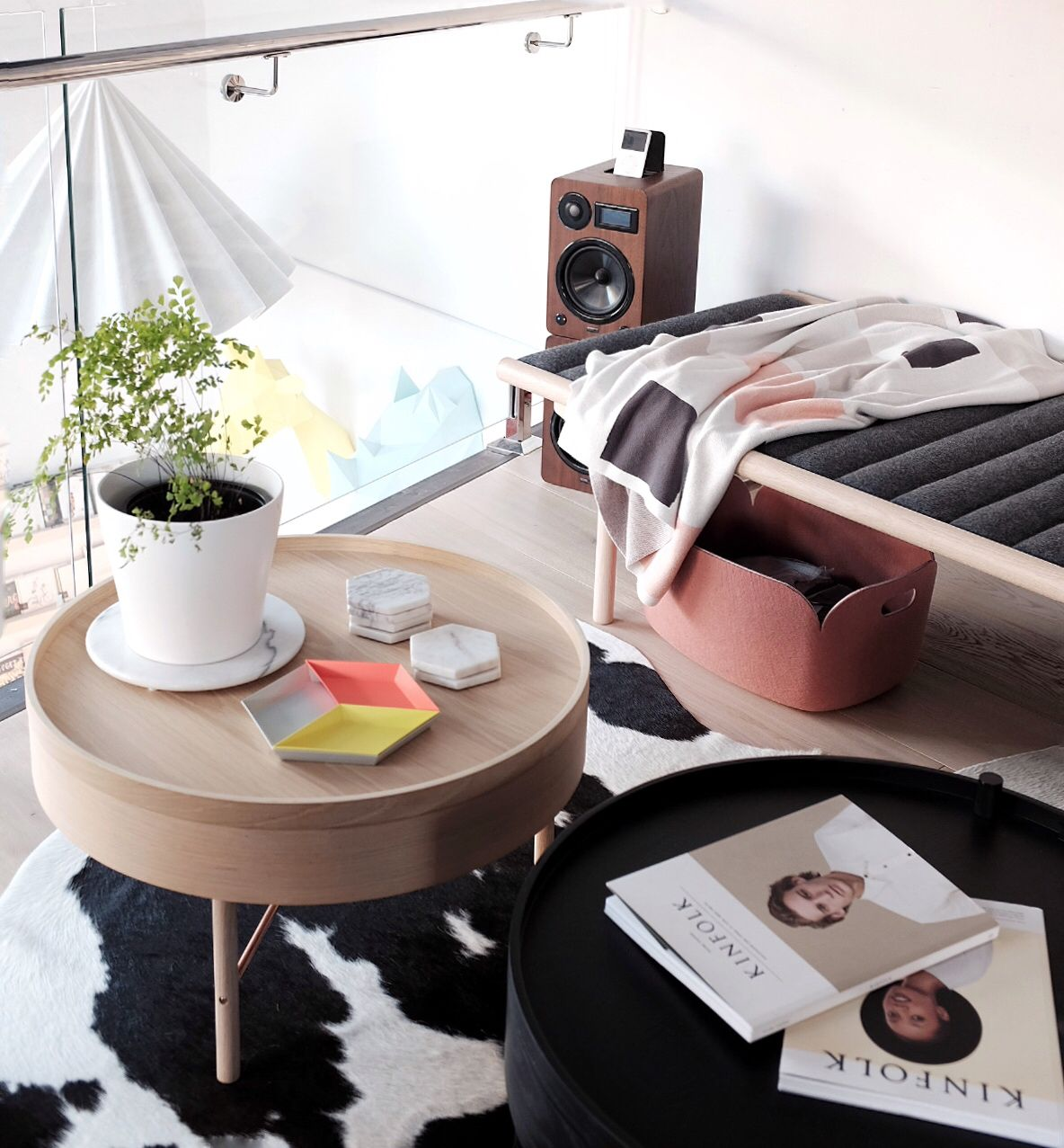 Retail Space Visual Merchandising: Our Living Room Featuring Menu Daybed,  Turning Table, Kate