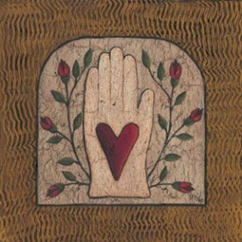 Heart in Hand Print