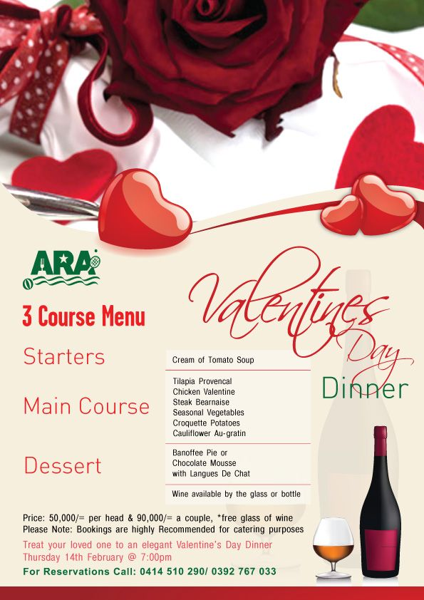 Ara Valentines Day Dinner Graghic Design Pinterest Dinners