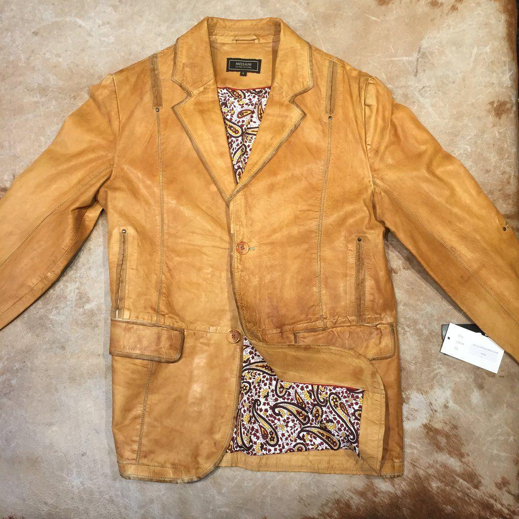 check out b66ae d0a7b Missani Le Collezioni Men`s Vintage Camel Leather Sports ...