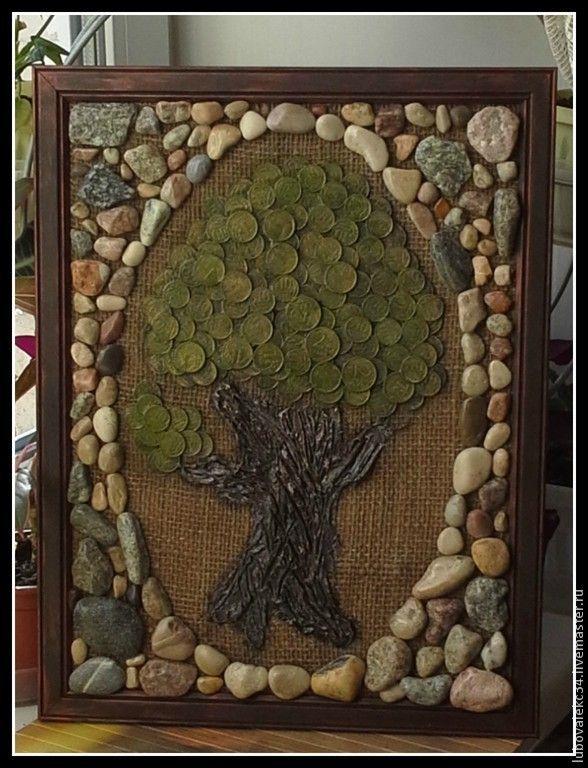 """Купить """"Денежное дерево""""-панно. - денежное дерево, монеты ..."""