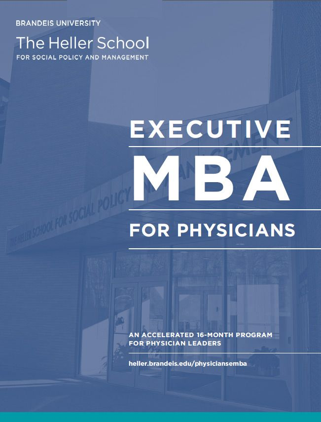 Executive MBA for Physicians | The Heller School at Brandeis