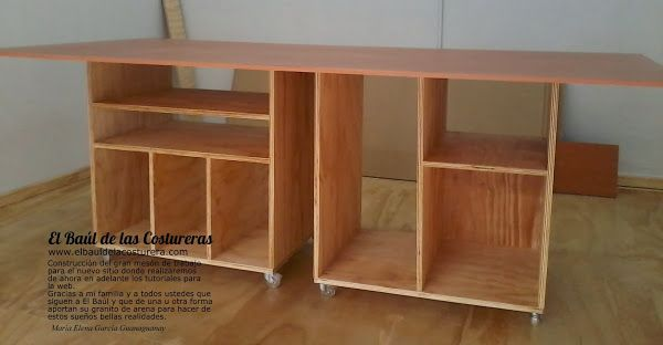 Banco mesa de trabajo para costura craft room ideas - Mesa de costura ...