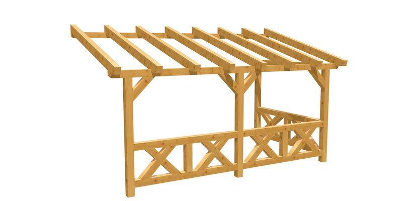 Bauanleitung Terrassenuberdachung Wand Pergola 5m X2 5m Terrassenuberdachung Selber Bauen Diy Pergola Pergola Selber Bauen