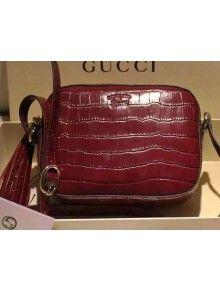 gucci 308364. gucci 308364 soho crocodile disco bag burgundy