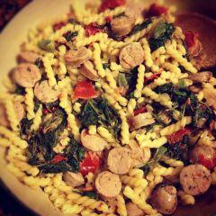 pasta, kale & chicken sausage