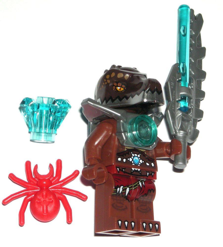 LEGO LEGENDS OF CHIMA CRUG CROCODILE MINIFIGURE w/ Armor ...