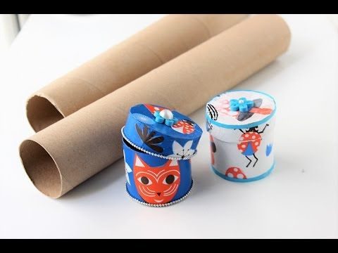 Gift box.jewelry box out of empty paper rolls.Best out of
