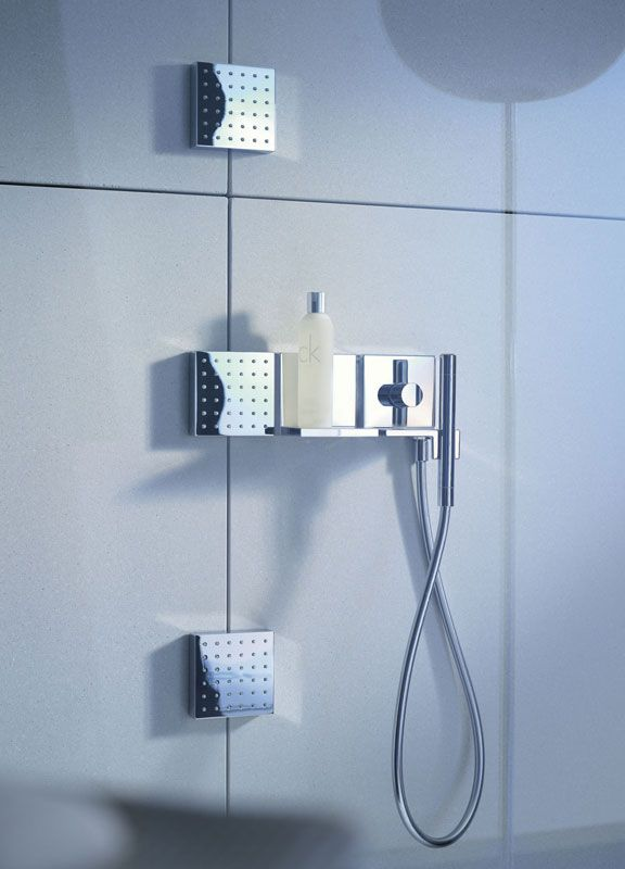 Hansgrohe Axor Body Sprays And Handshower System For Steam Shower