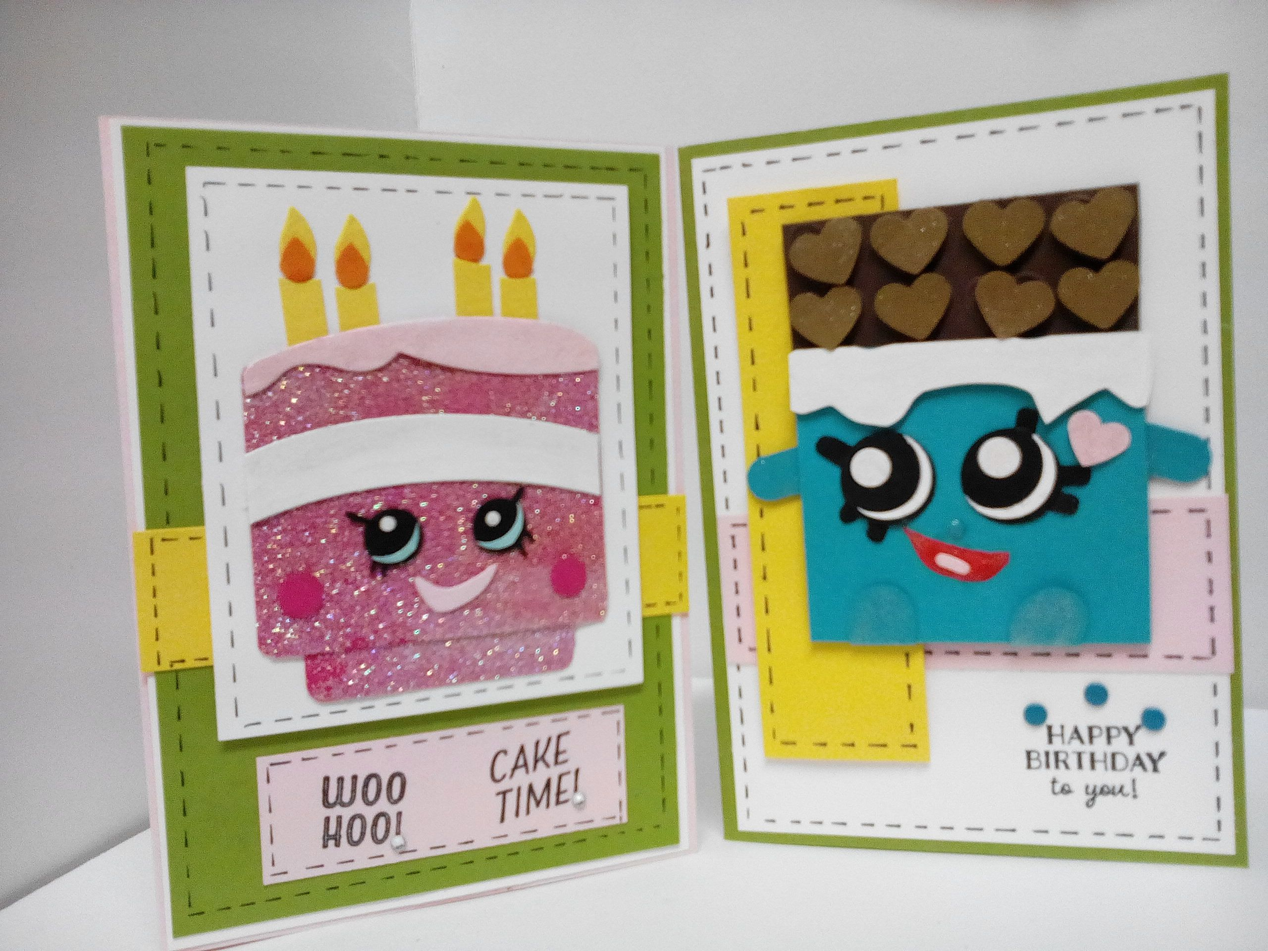 Cheeky Chocolate and birthday Wishes Shopkins Birthday cards at – Papercraft Birthday Card