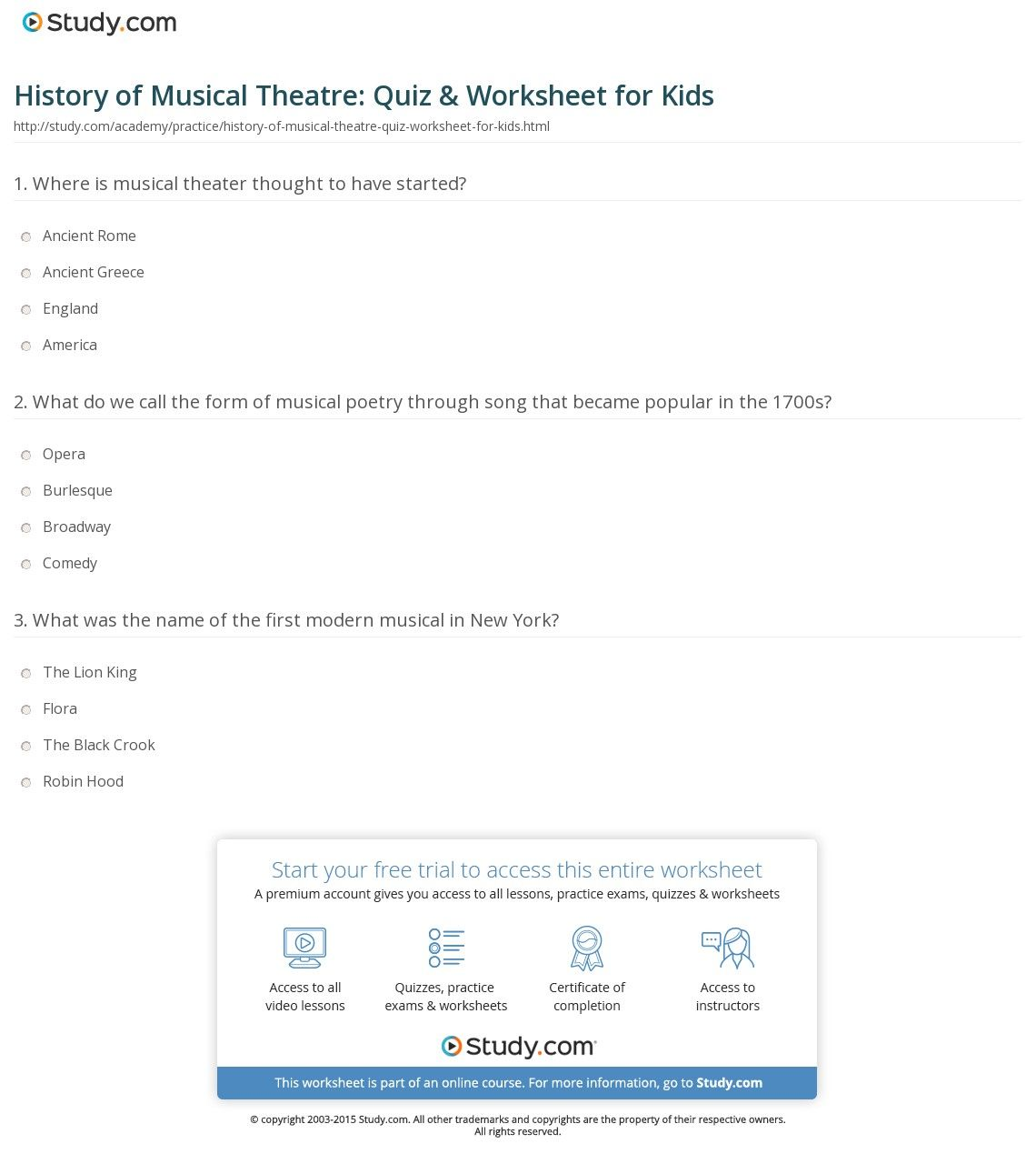 Broadway Musicals Trivia Questions Answers